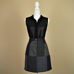 Vintage Brooks Brothers Patchwork Tweed Mini Skirt